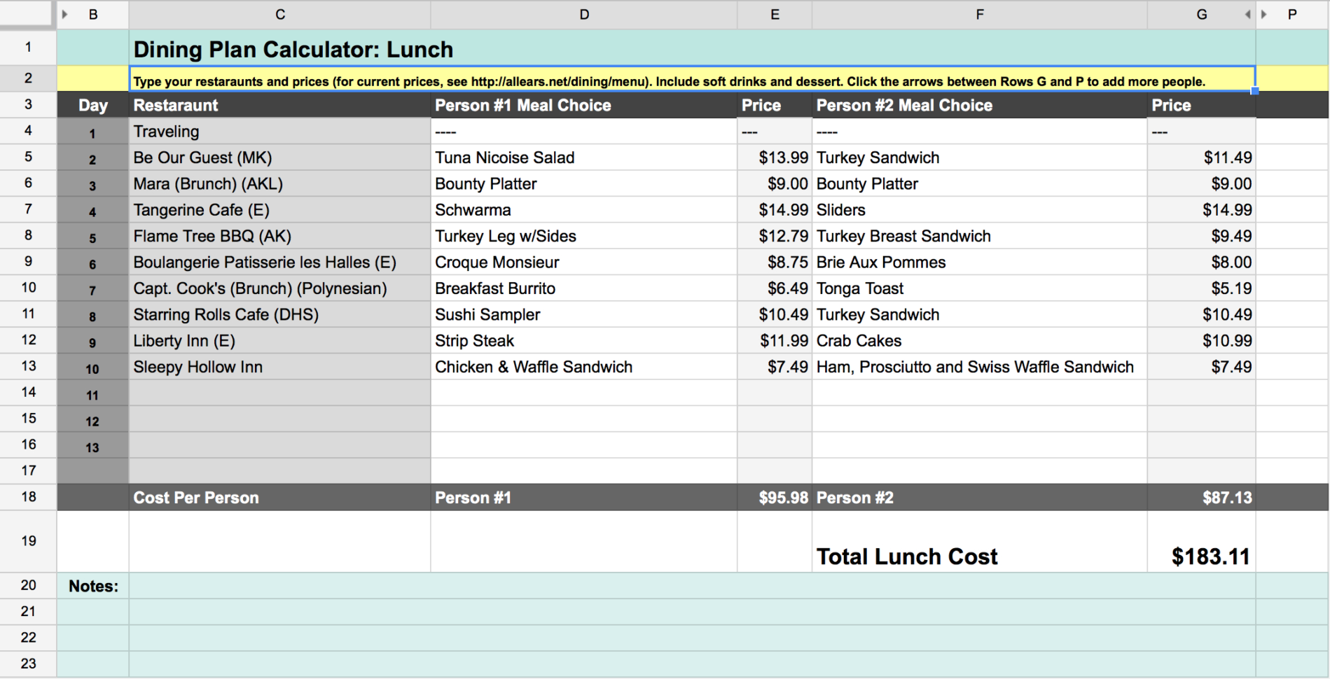 Disney Dining Plan Spreadsheet Throughout Disney Dining Plan: Is It Right For Your Family?  Our Handcrafted Life