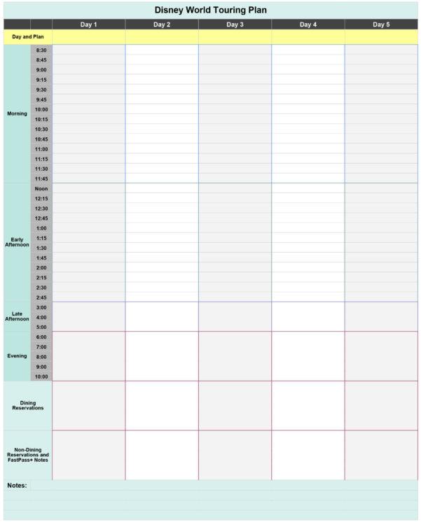 Disney Dining Plan Spreadsheet With Free Disney World Touring Plan Spreadsheet  Wit  Wander