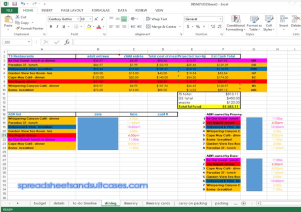 Disney Planning Spreadsheet Download In Free Templates Walt Disney World Planning Spreadsheet  Natural Buff Dog