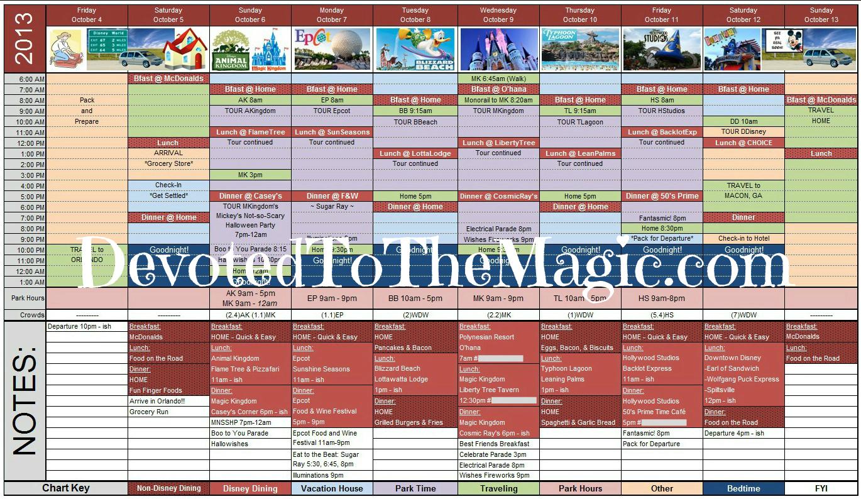Disney Planning Spreadsheet Download Regarding Disney World Day Planner Spreadsheet  Homebiz4U2Profit