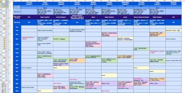 Disney Planning Spreadsheet Download Throughout Download Disney World Planner Template  Homebiz4U2Profit Disney Planning Spreadsheet Download Payment Spreadsheet