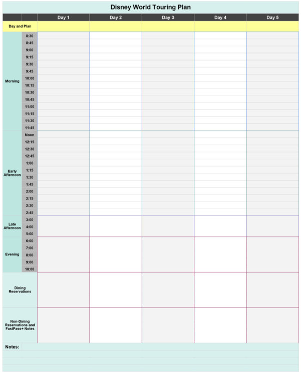 Disney Planning Spreadsheet Download With Free Disney World Touring Plan Spreadsheet  Wit  Wander