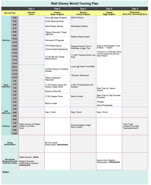 Disney Planning Spreadsheet With Free Disney World Touring Plan Spreadsheet  Wit  Wander
