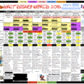 Disney Spreadsheet In My Obsessed Husband Works On This From The Day We Get Back From A