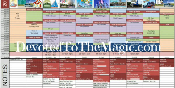 Disney Spreadsheet Throughout Disney World Day Planner Spreadsheet  Homebiz4U2Profit