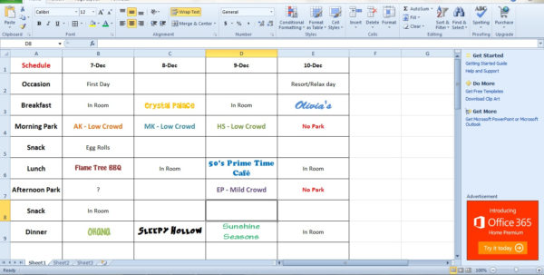 Disney Spreadsheet With Do You Use A Spreadsheet?  Walt Disney World For Grownups Disney Spreadsheet Google Spreadsheet
