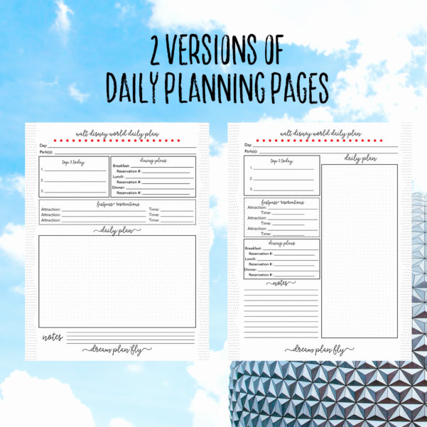 Disney World Day Planner Spreadsheet For Disney World Day Planner Spreadsheet Lovely Daily Planner Template