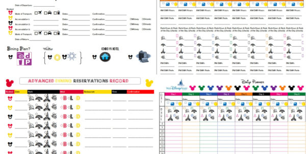 Disney World Day Planner Spreadsheet Intended For Disney World Day Planner Spreadsheet  Homebiz4U2Profit