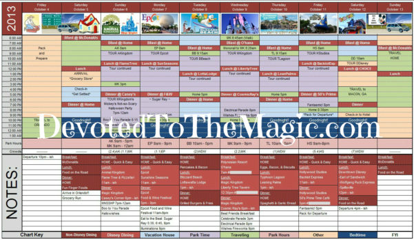 Disney World Day Planner Spreadsheet Pertaining To Disney World Day Planner Spreadsheet  Homebiz4U2Profit