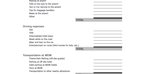 Disney World Planning Guide Spreadsheet In Trip Planning 101: How To Budget For Your Disney World Vacation