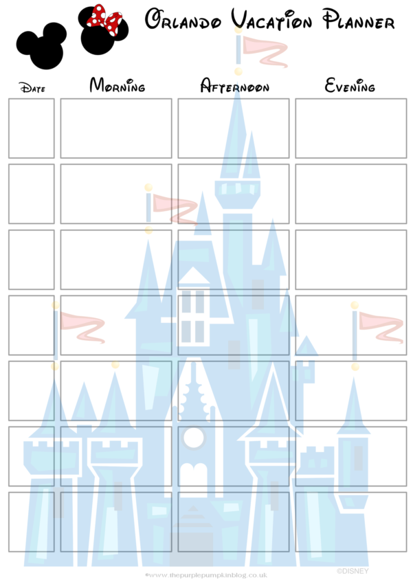 Disney World Planning Guide Spreadsheet Intended For Disney World Planning Guide Spreadsheet  Homebiz4U2Profit