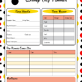 Disney World Planning Guide Spreadsheet Intended For Free Disney World Planner Template  Homebiz4U2Profit
