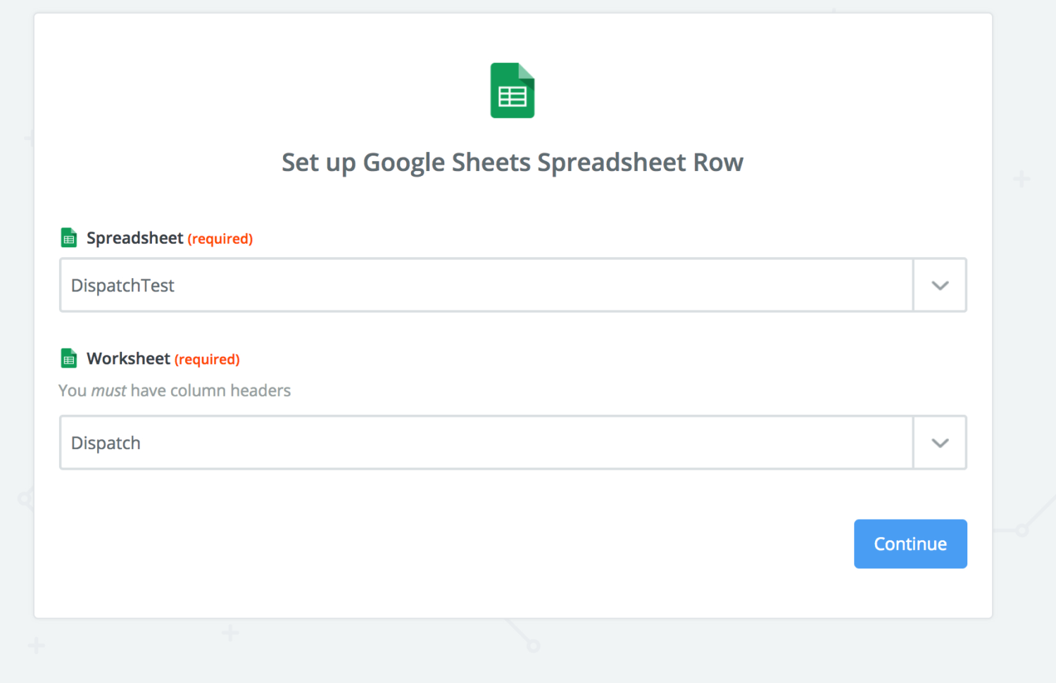 Dispatch Spreadsheet Pertaining To Dispatching Using Google Sheets From Zapier – Fastfield Mobile Forms