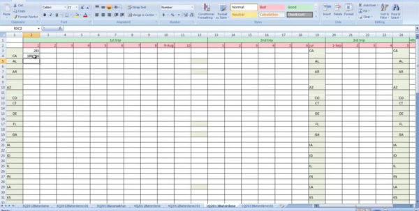 Dispatch Spreadsheet Throughout Ifta Spreadsheet Tracking Selo L Ink Co Mileage Example Sample