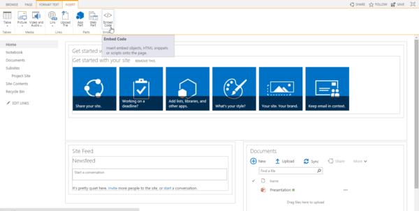 Display Excel Spreadsheet In Sharepoint 2013 With Embedding A Powerpoint Presentation Into A Sharepoint 2013 Page