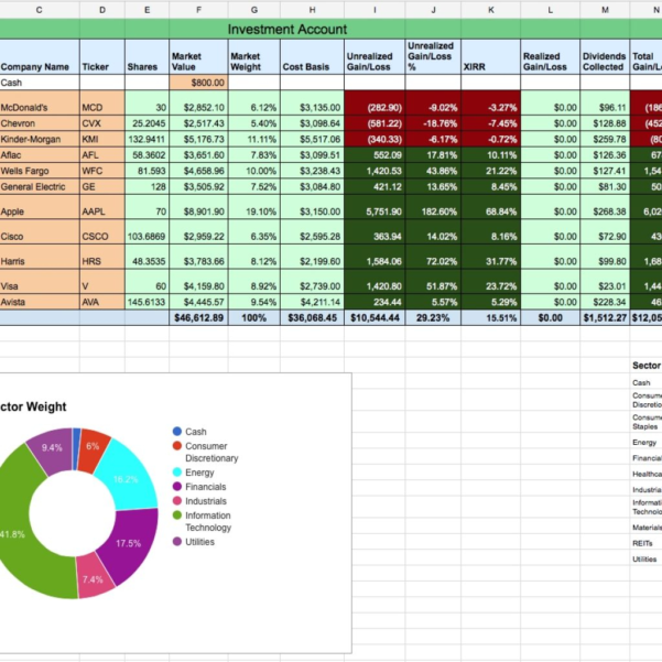 Dividend Portfolio Spreadsheet Inside Dividend Stock Portfolio Tracker With Transactions Page – Two With