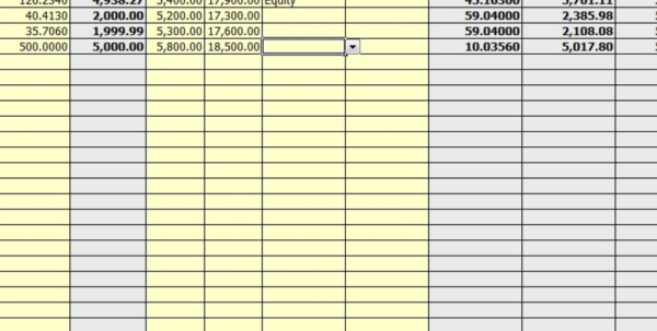 dividend spreadsheet templates