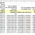 Dividend Spreadsheet Throughout Recreate A Dividend Reinvestment Spreadsheet Table  Kitchensinkinvestor