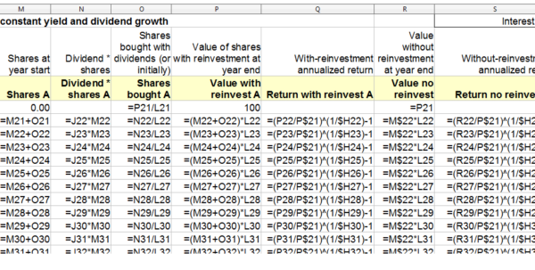 Dividend Spreadsheet Throughout Recreate A Dividend Reinvestment Spreadsheet Table  Kitchensinkinvestor Dividend Spreadsheet Payment Spreadsheet