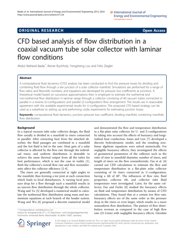 Dividing Flow Manifold Calculations With A Spreadsheet Within Loss Coefficients At The Dividing And Combining Manifold.  Download