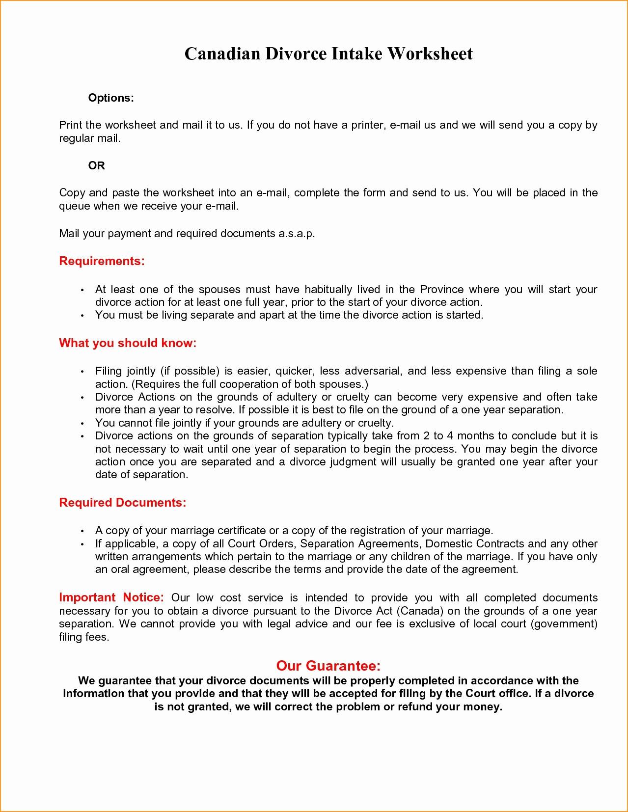 Divorce Spreadsheet In 24 Division Of Assets In Divorce Worksheet  Siinc