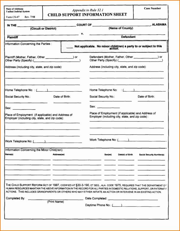 Divorce Spreadsheet Throughout Colorado Divorce Forms Child Support Worksheet Excel Fresh Fake