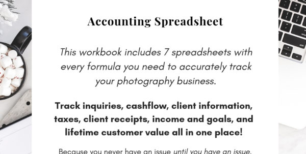Diy Accounting Spreadsheets In Accounting Spreadsheet For Photographers