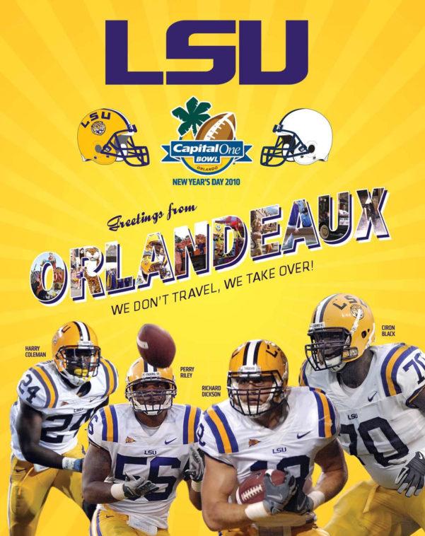 Dizzy Bowl Spreadsheet Pertaining To 2010 Lsu Football Capital One Bowl Guidelsu Athletics  Issuu