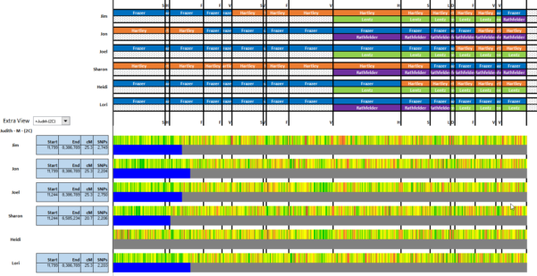 Dna Match Spreadsheet Pertaining To Visual Phasing Six Siblings With The Fox Spreadsheet: Part 5