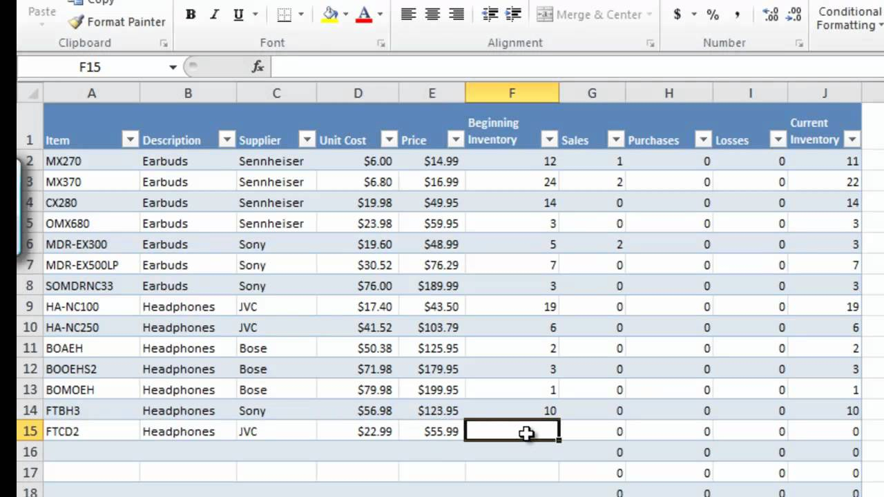 Download Inventory Spreadsheet Pertaining To Excel Inventory Management Software Free Download