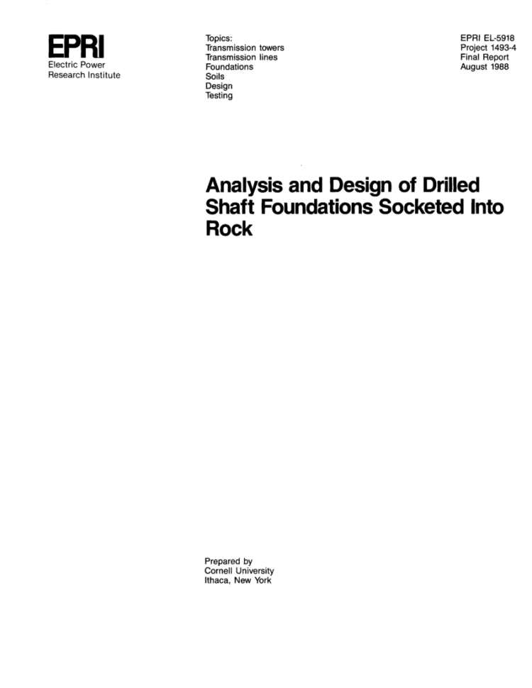 Drilled Shaft Design Spreadsheet Intended For Pdf Analysis And Design Of Drilled Shaft Foundations Socketed Into