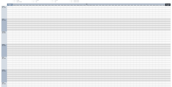 Driver Schedule Spreadsheet In Free Excel Schedule Templates For Schedule Makers