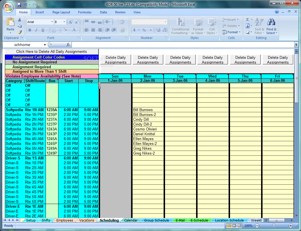 driver schedule spreadsheet inside download school bus