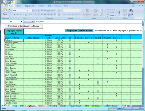 Driver Schedule Spreadsheet Throughout Download School Bus Driver And Route Schedules 7.13