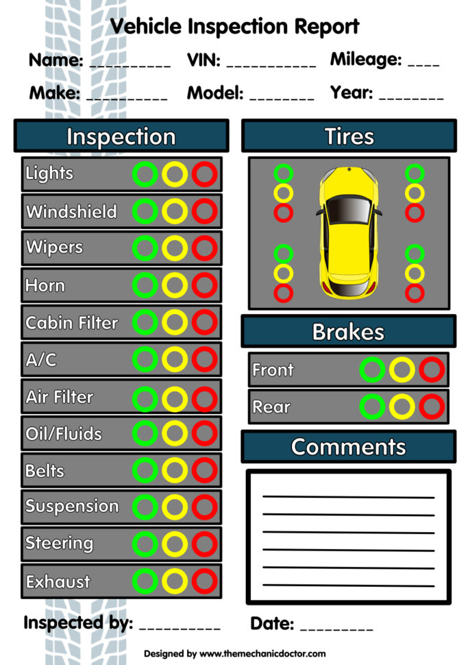 Drivers Hours Spreadsheet Inside Annual Vehicle Inspection Report Template Free Driver Form