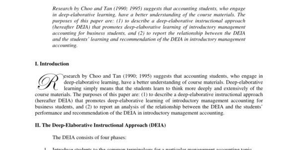 Driving Instructor Accounts Spreadsheet In Pdf Deepelaborative Learning Of Introductory Management Accounting
