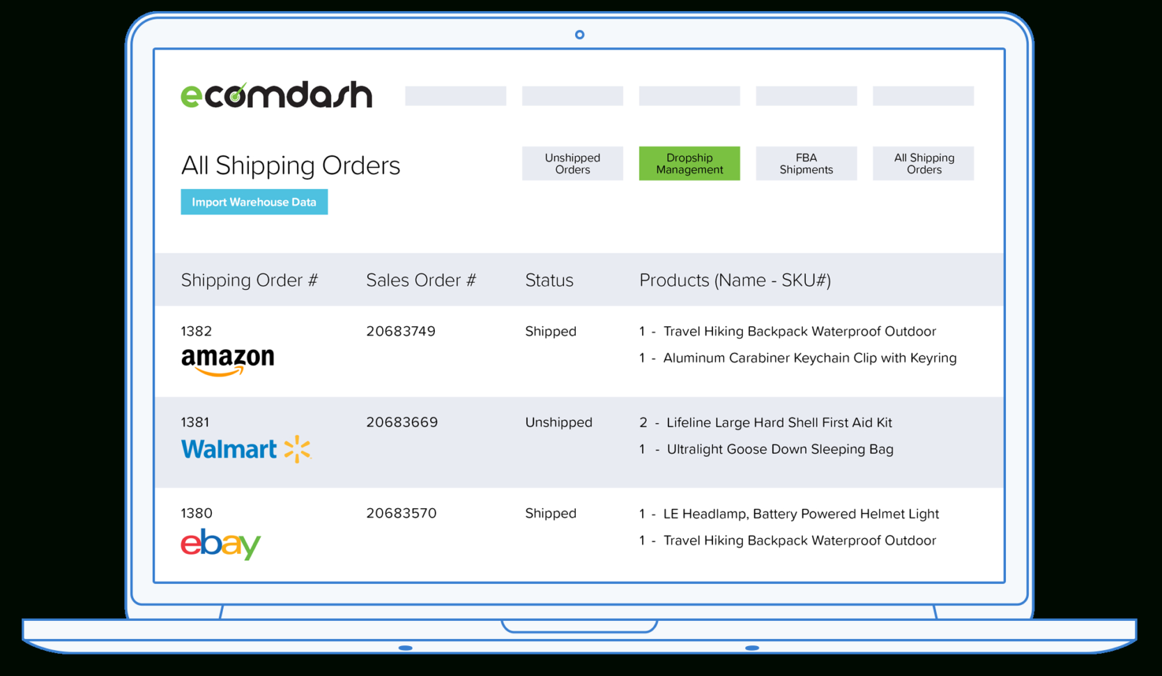 Drop Shipping Spreadsheet Within Drop Shipping Software Automation Platform  Ecomdash