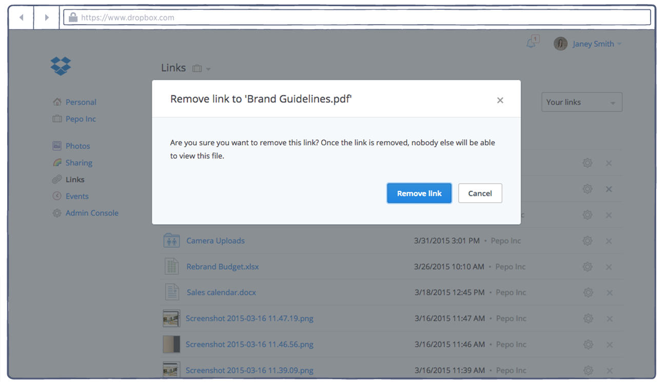 Dropbox Spreadsheet Throughout Tip Of The Week: How To Remove Shared Links  Dropbox Business Blog