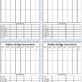Duplicate Bridge Scoring Spreadsheet Regarding Bridge Score Sheet  6 Free Templates In Pdf, Word, Excel Download