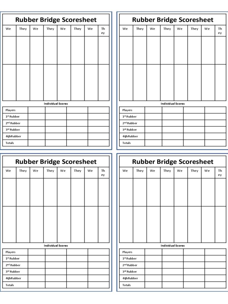 Duplicate Bridge Scoring Spreadsheet regarding Bridge Score Sheet  6 Free Templates In Pdf, Word, Excel Download