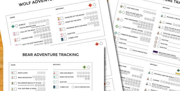 Duty To God Tracking Spreadsheet With Regard To New Cub Scout Tracking Sheets Especially For Lds Dens – The Gospel Home