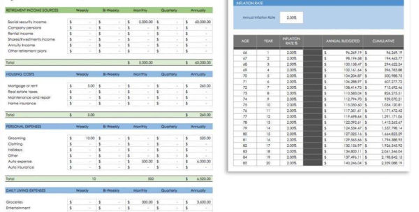 Early Retirement Spreadsheet Pertaining To Retirement Planning Spreadsheet Free And Early Retirement
