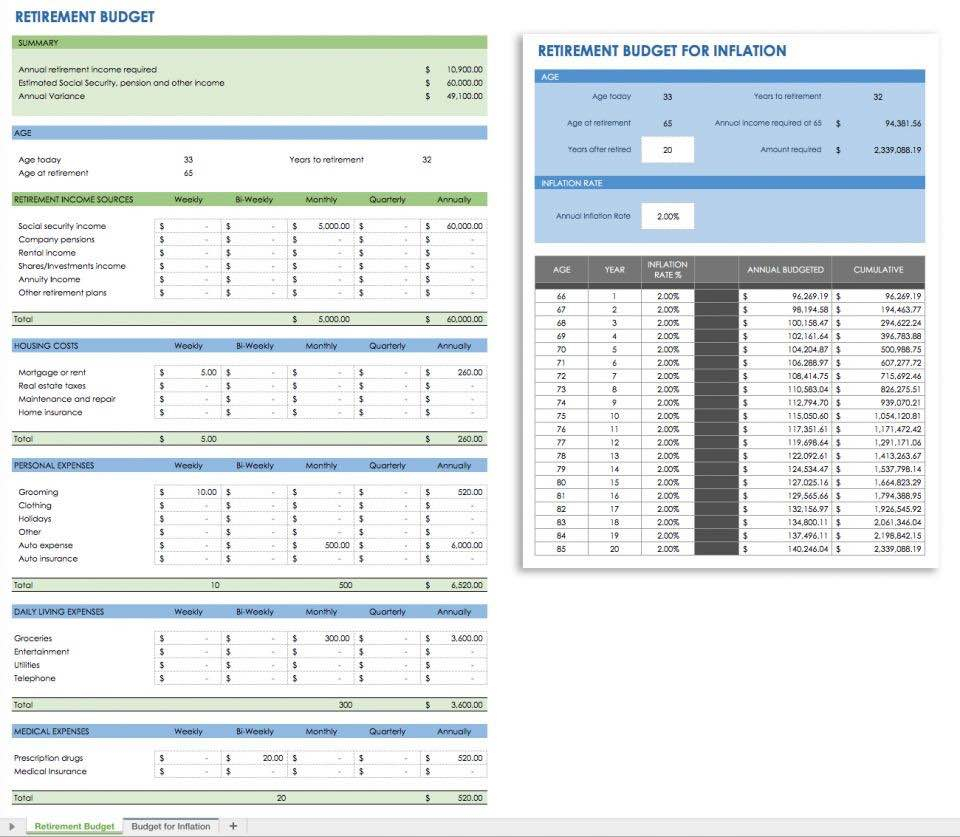 Early Spreadsheet Software Within Retirement Planning Spreadsheet Free And Early Retirement