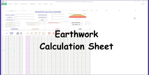 Earthwork Calculation Spreadsheet Regarding Earthwork Calculation Spreadsheet Earthwork Calculation Spreadsheet Spreadsheet Download