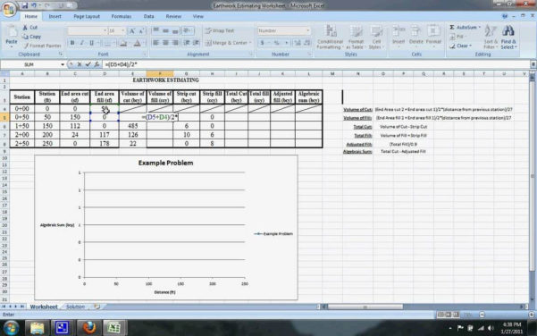 Earthworks Cut And Fill Calculations Spreadsheet For Earthwork Estimating Software Reviews And Cut And Fill Calculations
