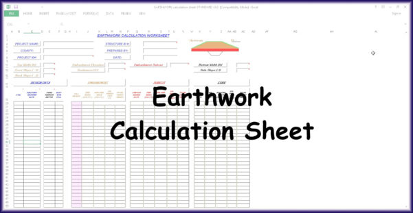 Earthworks Cut And Fill Calculations Spreadsheet With Regard To Earthwork Calculation Spreadsheet