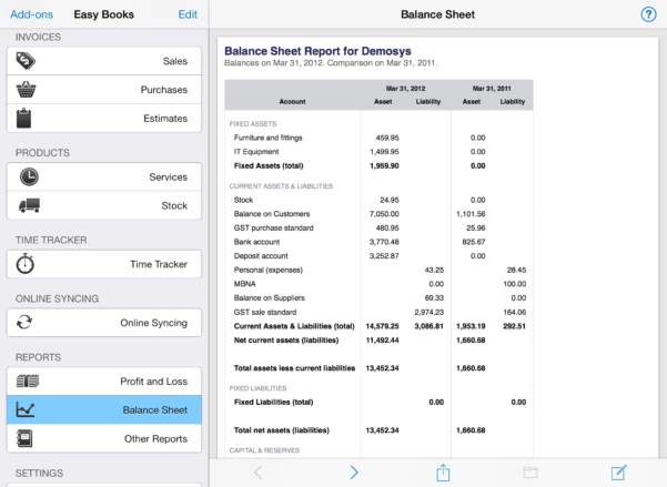 Easy Accounting Spreadsheet In Easy Books For Ios  Easy Books