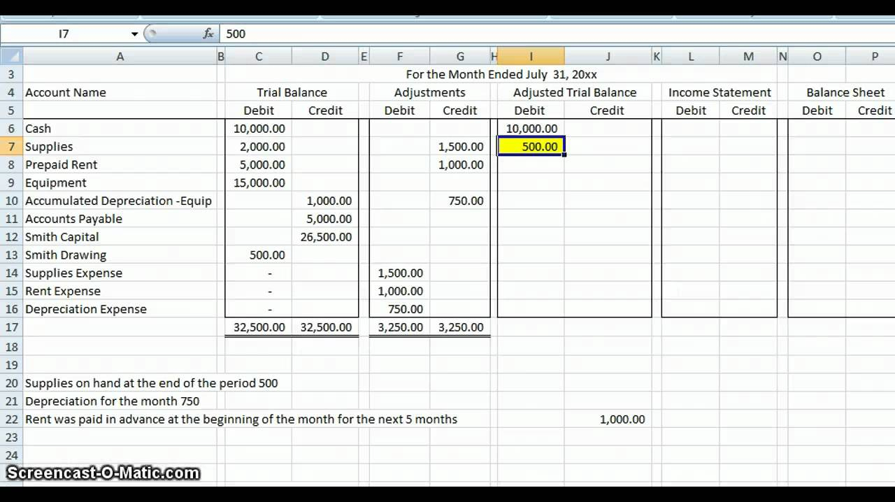 Easy Accounting Spreadsheet Within Basic Accounting Worksheet Accounting Worksheet Accounting