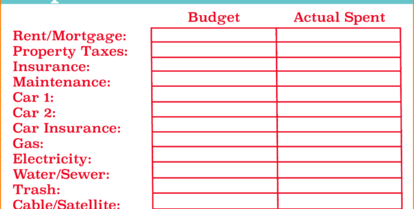 Easy Budget Spreadsheet Intended For 15  Easy Budget Spreadsheet  Fax Coversheet