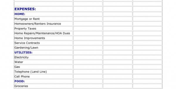 Easy Household Budget Spreadsheet For Easy Family Budget Worksheet Example Spreadsheet Free Simple